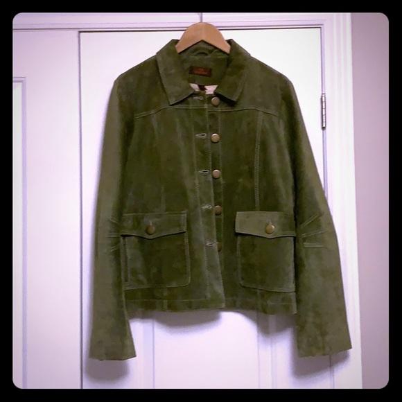 Green Danier Suede Coat